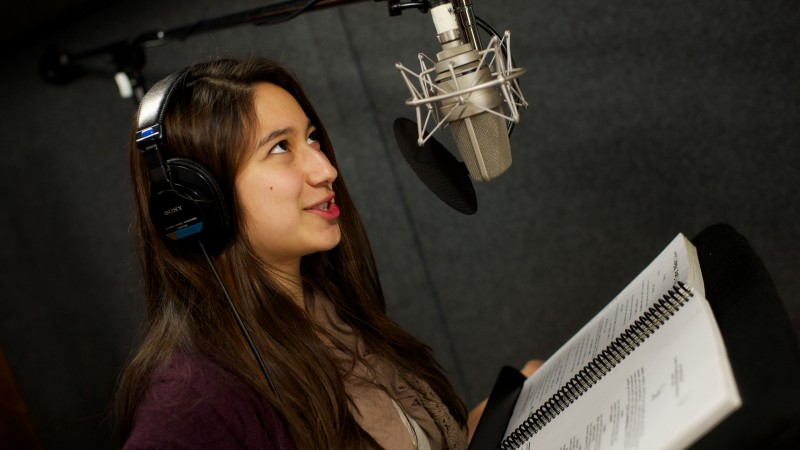 a student in USC's Sound Design Lab