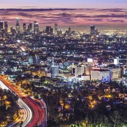 Los Angeles lit up at night