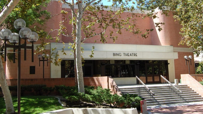 exterior of the Bing Theatre