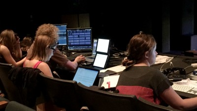 Image of students during tech of Dark of the Moon