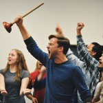 "Students rehearse ""Look at the Sky"" from Act 1 of Urinetown. (Photos by Annika Ellwanger-Chavez)"