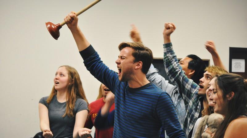 Students rehearse