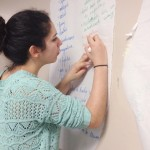 Student takes notes during Creating Character summer class.
