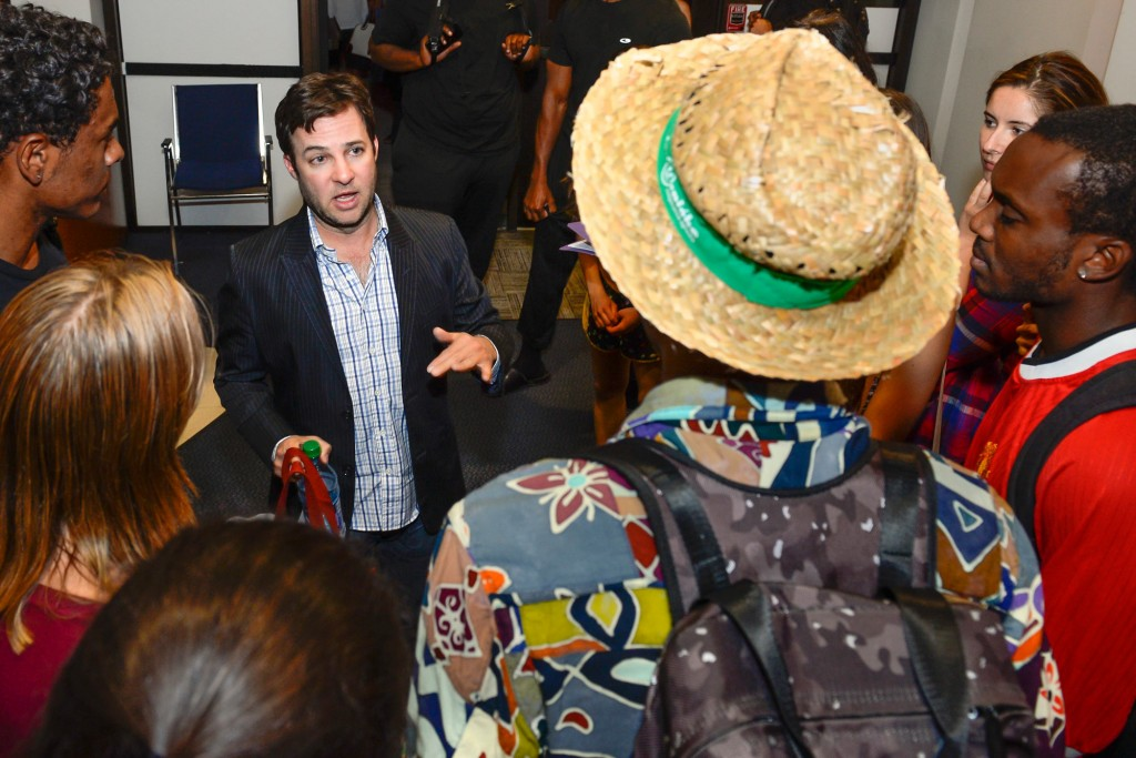 Danny Strong meets with students after Spotlight@SDA