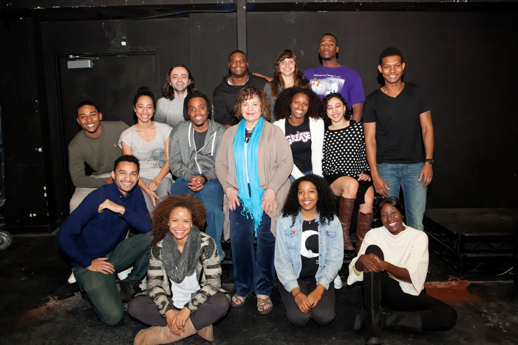 On floor, (l to r): Ryan Holmes, Kristina Hanna, Camille Langston, Selina Scott-Bennin; Second row: Camron Jones, Jasmine Hayden, Tre Hall, Michele Shay, Empress Christian, Mehrnaz Mohammadi, Shane McGhie; back  row: Goran Ivanovski, Shaun Heard, Isadora Cintron, Caleb Thermidor. Photo by Michael Rueter/Capture Imaging