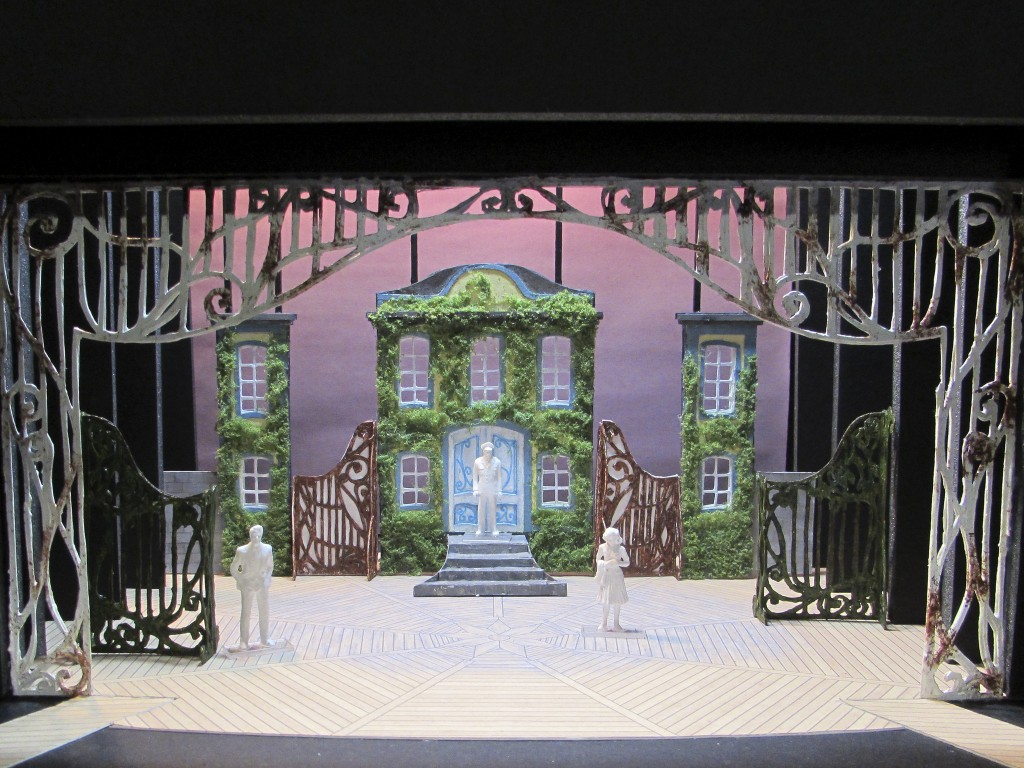 "Lea Branyan's set model for ""A Little Night Music."""