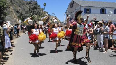 Chris Wodniak and the Trojan Marching Band