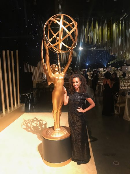 Sidne Phillips with Emmys Statue