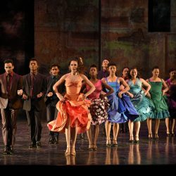Student performers in West Side Story