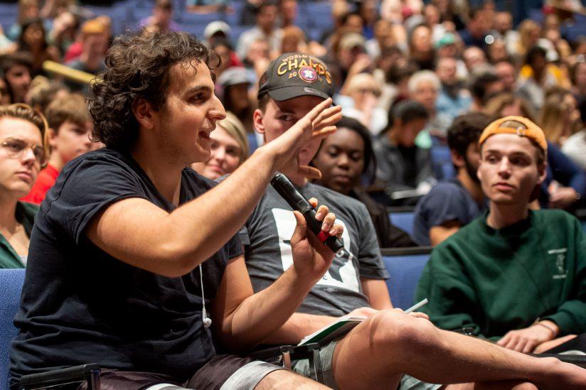 Student asks Ben Kingsley a question