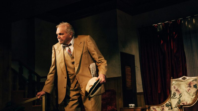 Eugene O'Neill's Hughie at the Geffen Playhouse. (Photo by Jeff Lorch)