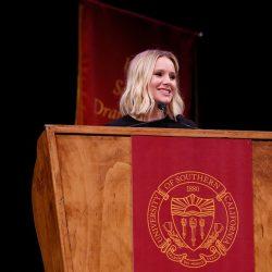Speaker Kristen Bell at the SDA Undergraduate Commencement Ceremony