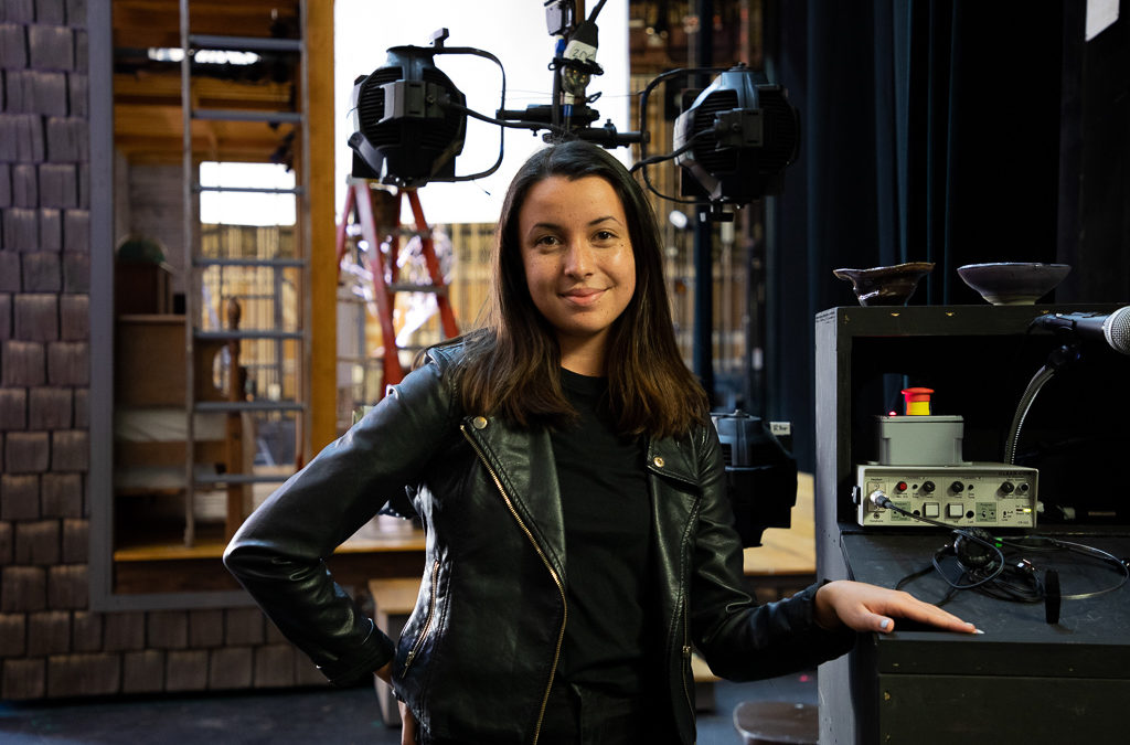 Carrie Hiramatsu BFA '20 on set at The Cider House Rules