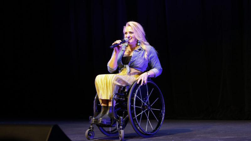 Ali Stroker onstage
