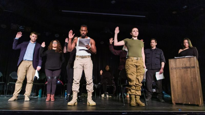 veterans acting onstage