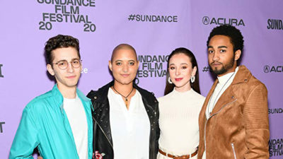 Rashid and Beast Beast cast members at Sundance
