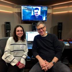 Alumna Angie Sarkisyan and Associate Professor of Theatre Practice John Demita