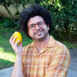 Zach Steel with a lemon