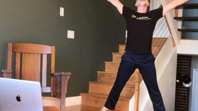Patrick Corbin dancing
