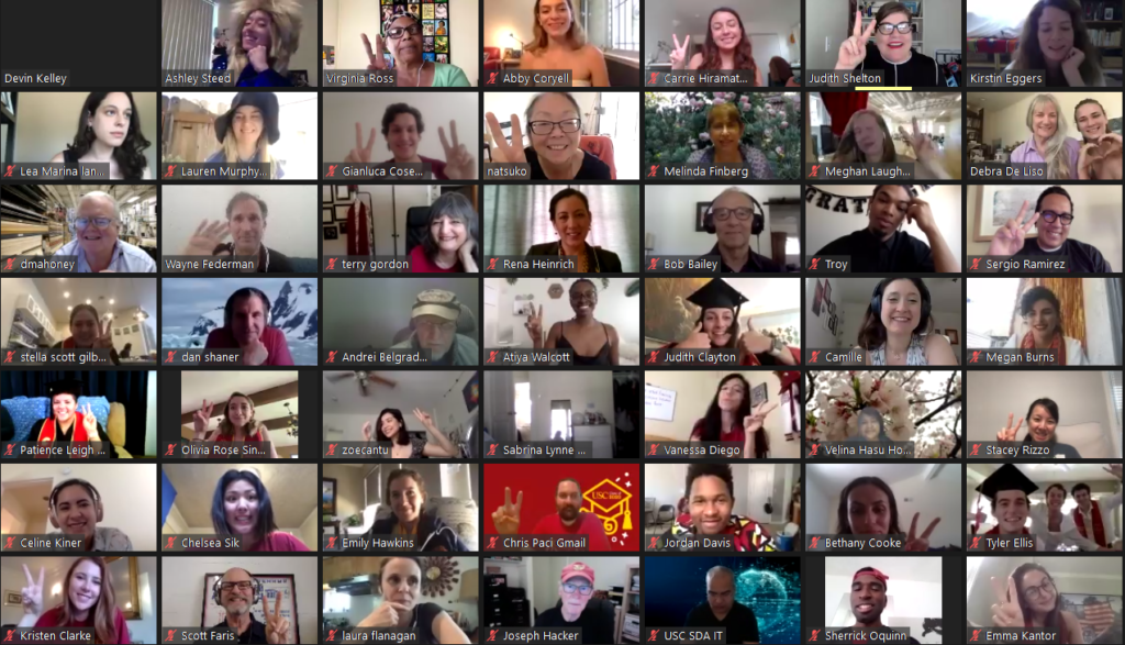 Students, Alumni, Faculty and Staff after the 2020 SDA Virtual Celebration