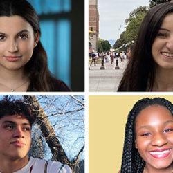 Four incoming freshmen students