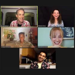 Alumni in conversation via Zoom