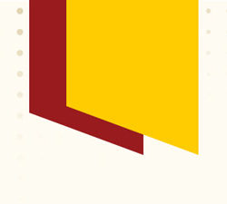 Cardinal and Gold shapes on a background