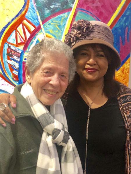 Joan Beber MFA '00 with Velina Hasu Houston in 2019