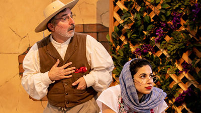 Edward Padilla, left, and Shabnam Kalbasi in LA Opera's The Marriage of Figueroa