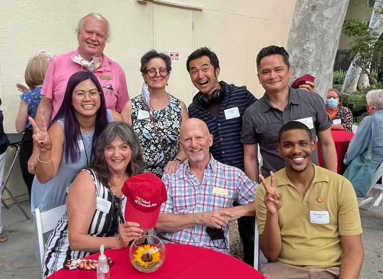 SDA faculty and staff during a parent social for Welcome Week 2021