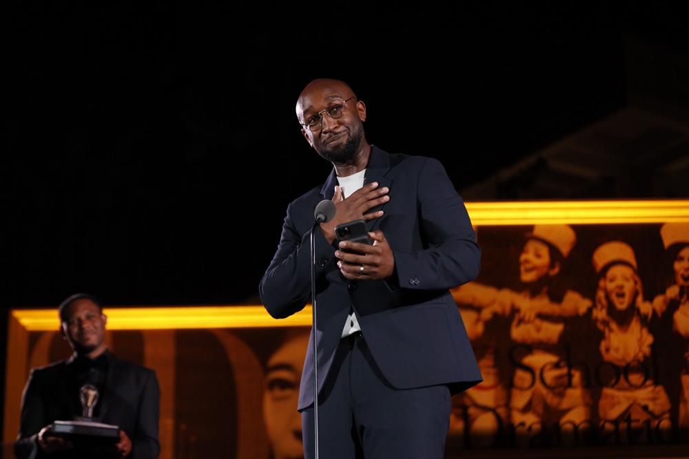 Donald Webber Jr. during his acceptance speech